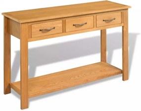 Tömör tölgyfa tálalóasztal 118 x 35 x 77 cm