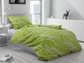 Aromis zöld pamut ágyneműhuzat bújtatós Ágynemű mérete: 70x90 cm, 140x200 cm