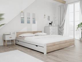 Maxi Drew IKAROS ágy 180x200 cm, fehér Ágyrács: Lamellás ágyráccsal, Matrac: matrac nélkül