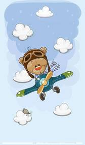 Best4Baby Maci repülőn kisfiú dekor babafüggöny
