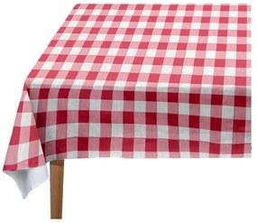 Red Vichy asztalterítő, 140 x 140 cm - Linen Couture