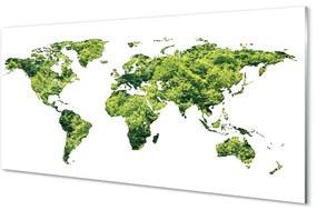 Akrilképek Térkép a zöld fű 140x70 cm