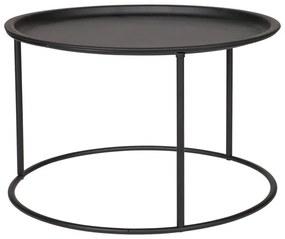 Ivar fekete dohányzóasztal, ⌀ 56 cm - WOOOD