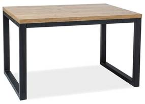 RASOL II Vener B étkezőasztal, 120x78x80, tölgy/fekete
