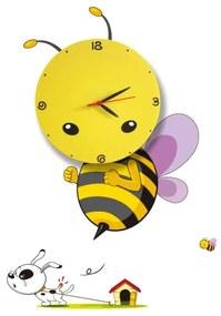 Milagro LED Gyerek fali lámpa órával LED/1W/3xAAA méhecske MI0034