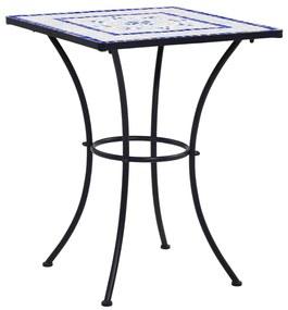 vidaXL kék és fehér kerámia mozaikos bisztróasztal 60 cm