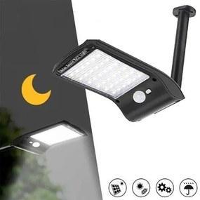 Napelemes, falra szerelhető, mozgásérzékelős LED lámpa