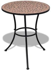 vidaXL terrakotta mozaik bisztró asztal 60 cm