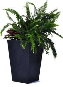 Kind szürke virágtartó, magasság 57 cm - Keter