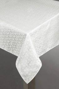 Serena lurex asztalterítő Fehér / ezüst 150 x 220 cm - HS200834