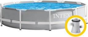 Intex Prism Frame medence 26700 3,05 x 0,76 m papírbetétes szűrőberendezéssel 28638