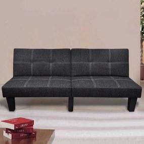 vidaXL fekete dönthető szövet kanapéágy