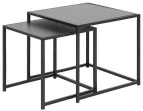 Oldalsó asztal szett Akello - sötét hamu