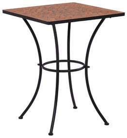 vidaXL terrakotta mozaikos bisztróasztal 60 cm