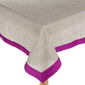 Zsákvászton abrosz rózsaszín, 120 x 140 cm, 120 x 140 cm
