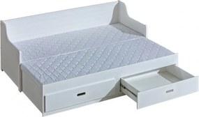 DL MOSKO kihúzható ágy 80x200 Szín: Fehér