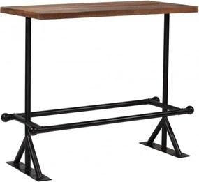 Sötétbarna tömör újrahasznosított fa bárasztal 120 x 60 x 107 cm