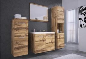 ALOMA fürdőszoba össszeállítás mosdóval, tölgy wotan