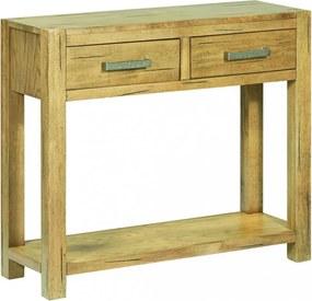 Rusztikus tölgyfa tálalóasztal 83 x 30 x 73 cm