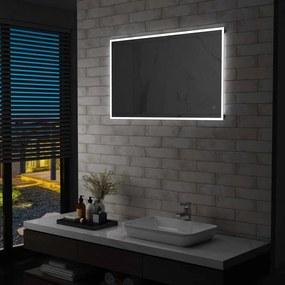 vidaXL LED-es fürdőszobai falitükör érintésérzékelővel 100 x 60 cm