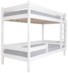 MJ Paulína emeletes ágy 90x200 cm Szín: Fehér