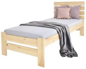 MD LULA egyszemélyes ágy 90x200 - natúr borovi