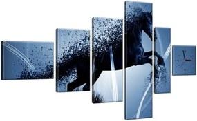 Órás falikép Kék ló - Jakub Banas 180x100cm ZP3574A_6E