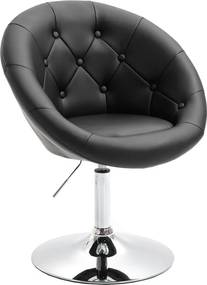 Forgó fotel, fekete/króm, GULEN