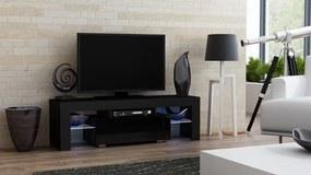 RTV Milano 130, fekete – TV-asztal