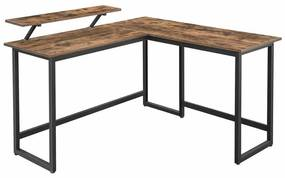 L alakú számítógép asztal 140 x 130 x 89 cm