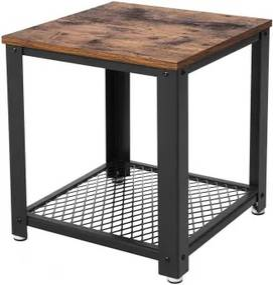 Rusztikus stílusú kisasztal 40,2x40,2x45 cm