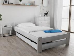 Emily ágy 80x200 cm, fehér Ágyrács: Deszkás ágyráccsal, Matrac: Somnia 17 cm matraccal