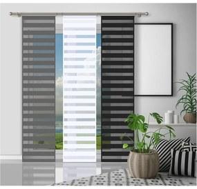 Nappal és éjjel paraván, fekete, 50 x 240 cm