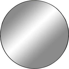 JERSEY kerek fekete acél tükör 100cm