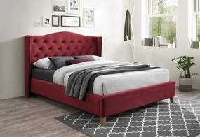 CADERA Velvet kárpitozott ágy, 160x200, bluvel 59