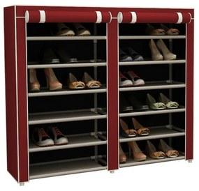 Mobil cipőtároló szekrény, piros