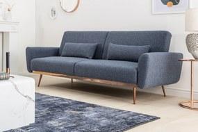 BELLEZZA kék szövet kanapé 208x102x84