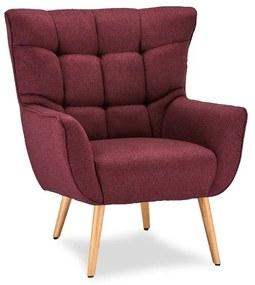 Luxus fotel Abbas piros