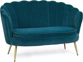 GILIOLA kék bársony kanapé