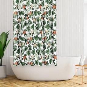 4Home Monstera zuhanyfüggöny, 178 x 183 cm