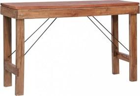 Tömör újrahasznosított fa tálalóasztal 130 x 40 x 80 cm