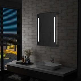 vidaXL LED-es fürdőszobai falitükör 60 x 80 cm