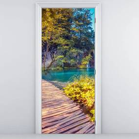 Fotótapéta ajtóra - Plitvicei tavak (95x205cm)