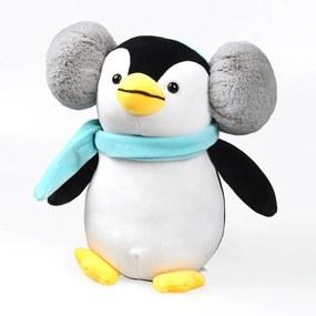 Pingvin babajáték, kék fekete