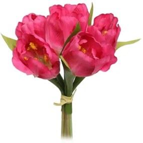 Mű virágcsokor Tulipán, , rózsaszín