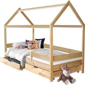 MG MÁRTON házikó ágy 200x90 - natúr