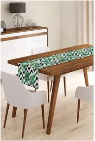 Jungle Leaves Stripes mikroszálas asztali futó, 45 x 145 cm - Minimalist Cushion Covers