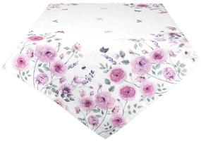 Vintage Nyári asztalterítő rózsaszín rózsa 130*180 cm