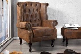Luxus vintage fotel Chesterfield füles