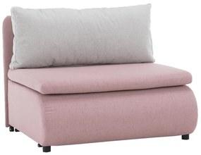Kinyitható fotel, rózsaszín/világosszürke KENY NEW